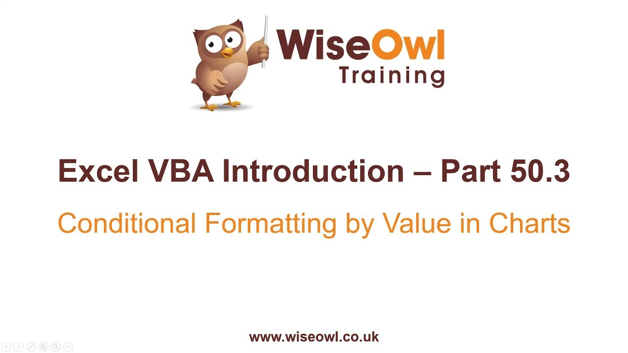 Excel VBA Introduction Part 50 3 - Conditional Formatting by Value in Charts