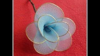 How to Make Nylon Stocking Flower Tutorial
