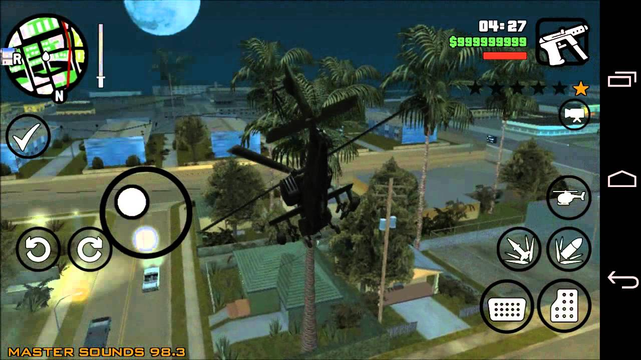 Grand Theft Auto San Andreas Android Game Cheats