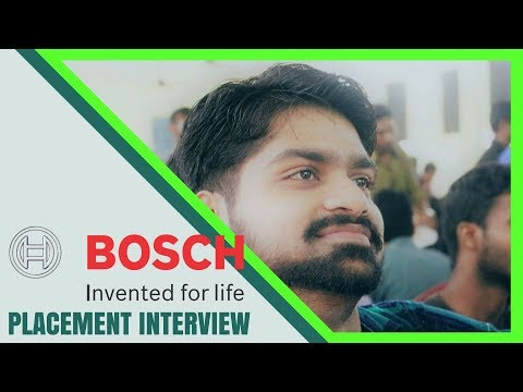 Robert and Bosch Interview | Campus Placement | Question and answers