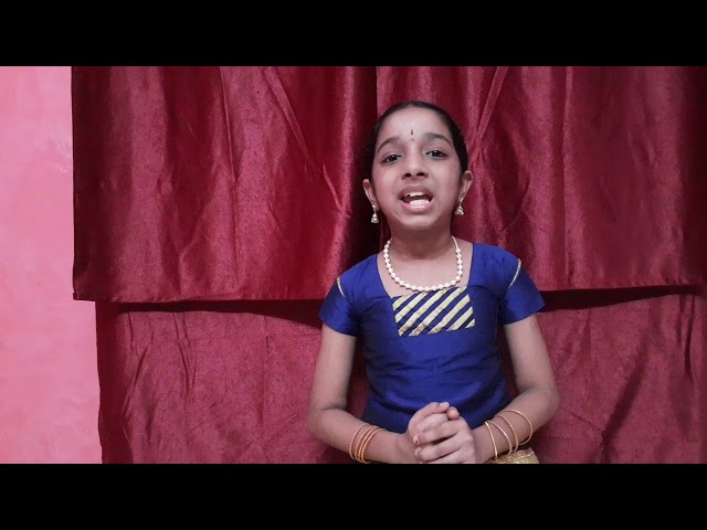 Kum. S. Vamshini presenting