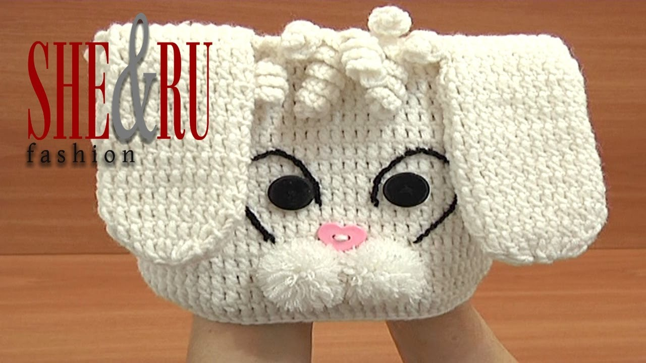 How to Crochet Bunny Hat With Long Ears Tutorial 1 Part 2 of 3 Gorro ...