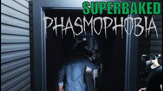 SuperBaked Plays - Phasmophobia - a ghost hunting VR game online