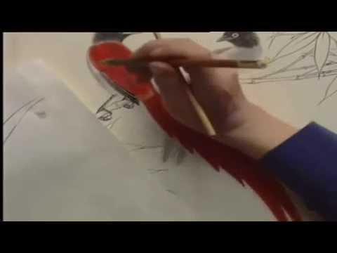 国画学习_国画学习 鸟 - YouTube