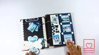 Special Scrapbook Card -Surprise Handmade Gift Love in Box-Photo Album DIY Easy-Tutorial