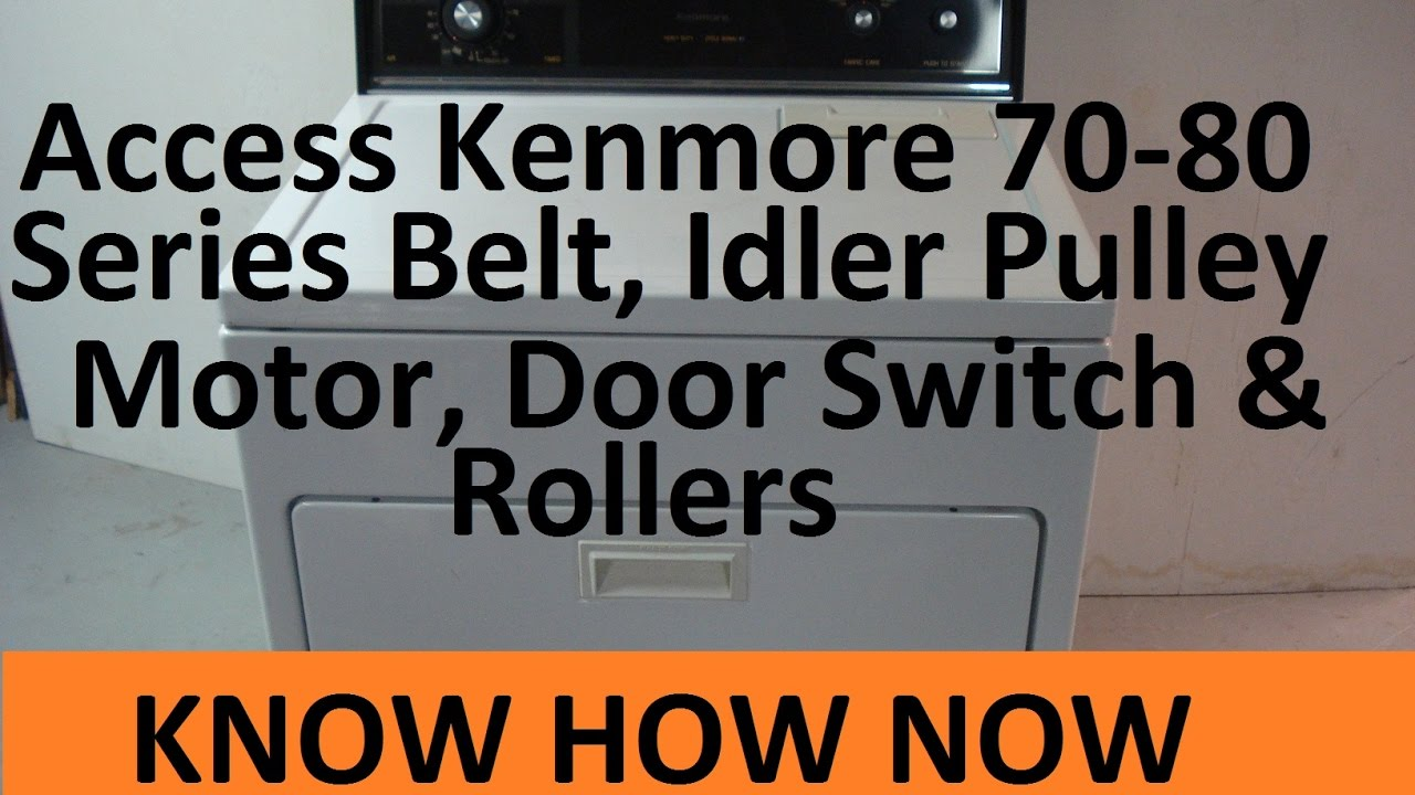How To Open Kenmore Dryer Front Panel And Top Youtube Drive Belt Diagram In Addition Elite