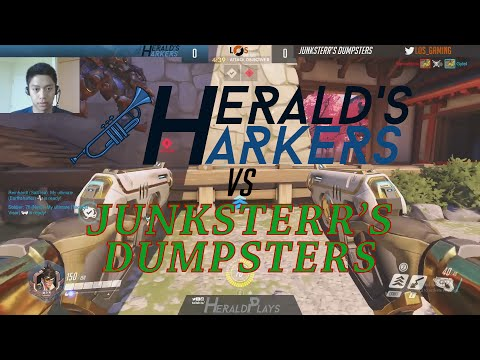 LoS Game Night | Overwatch | MATCH 2 | Herald's Harkers vs Junksterr's Dumpsters