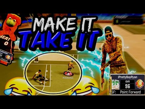 FAST EASY REP ! 🔥 | 2V2 MAKE IT TAKE IT | NBA 2K17 MYPARK | 6'8 POINT FORWARD IS TOO DOMINANT | SS3
