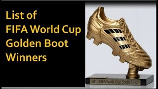 List of FIFA World Cup Golden Boot Winners (1930-2014) | Top Goal scorers in World Cup