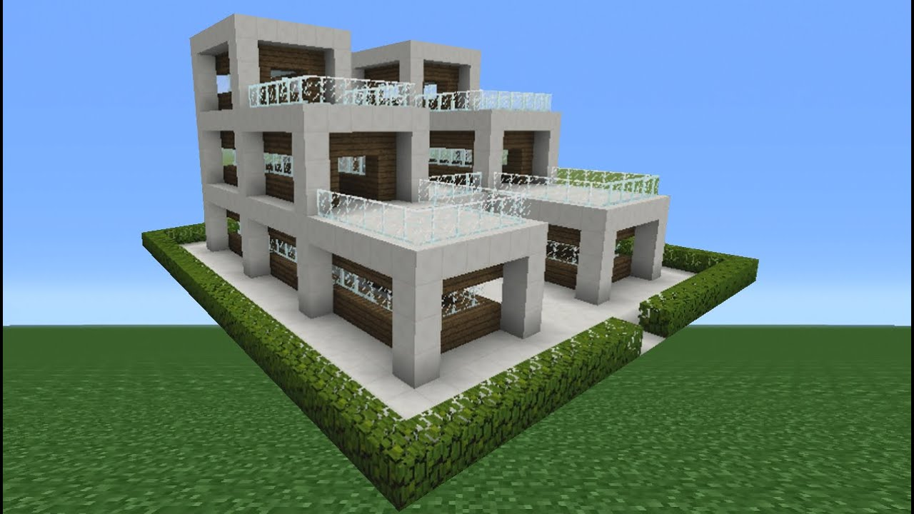 Minecraft utorial: How o Make Quartz House - 14 - Youube - ^