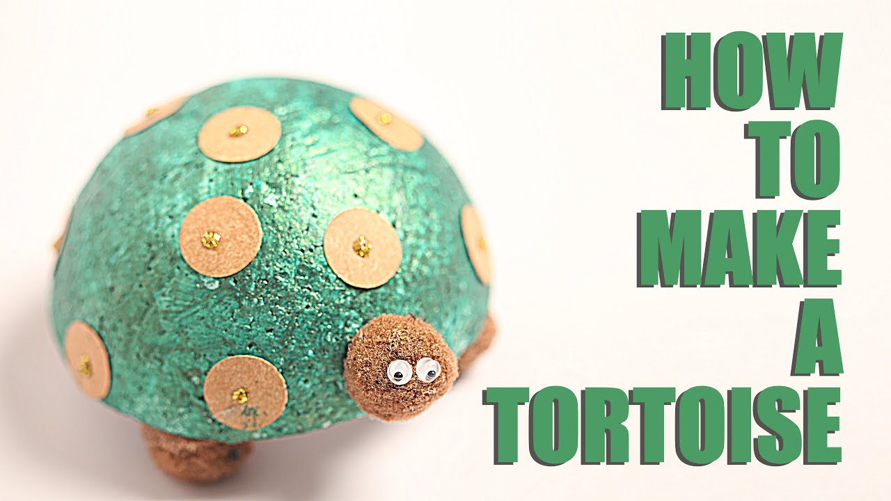 How to make tortoise diy tortoise kids art and craft for How to make craft
