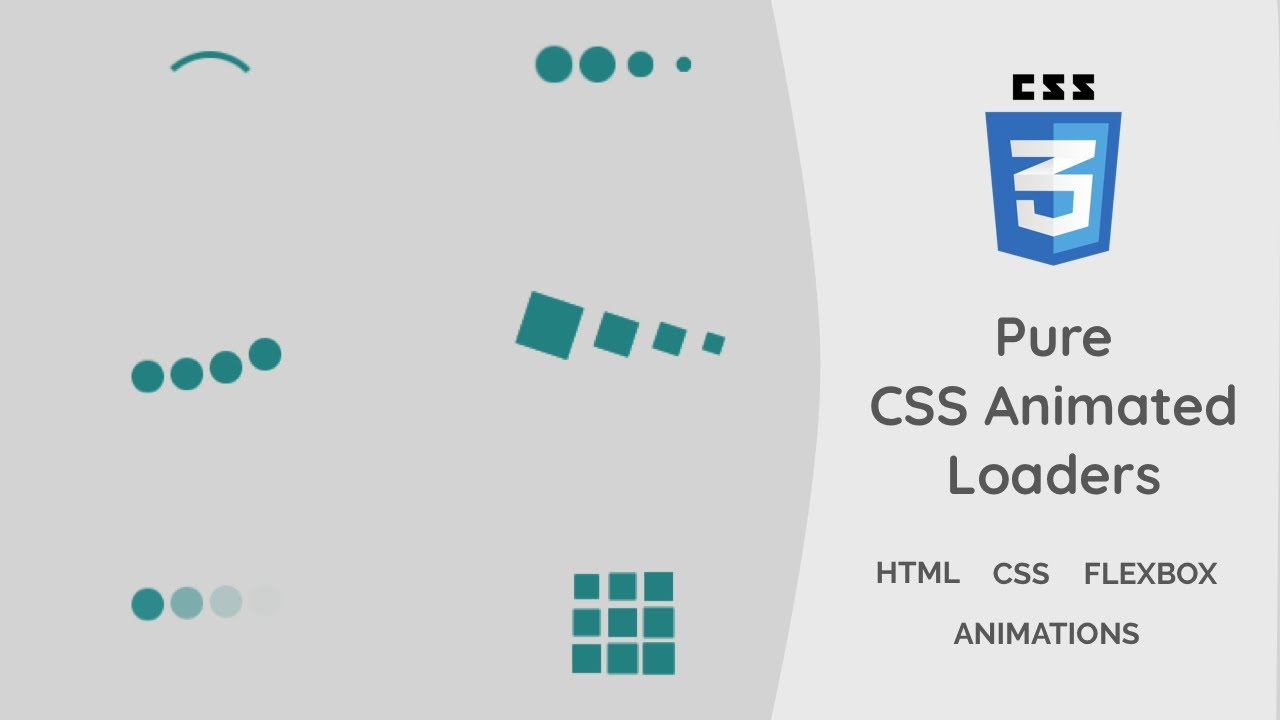 Creating Loaders Using Pure CSS   CSS Animations Tutorial