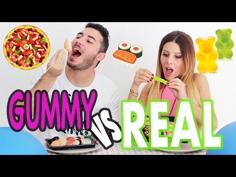 GUMMY FOOD vs REAL FOOD