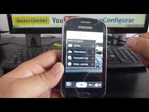 Cómo configurar la cámara del samsung galaxy Fame S6810 español Full HD