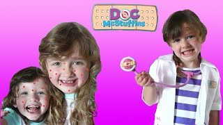 Real Life Doc Mcstuffins check up | The Kids have Chicken Pox | The Disney Toy Collector
