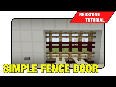 BROKEN IN TU25 DON'T BUILD!!!! Simple Fence Door