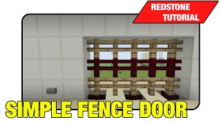 "Simple Fence Door ""tutorial"" (minecraft Xbox/ps3 Tu16)"