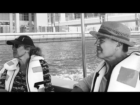 Dubai canal architecture tour with Jose Gomez. # Mr Pat Stewart & Jennie Stewart in Dubai.