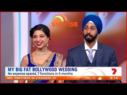 ♥ AUSTRALIA'S BIGGEST WEDDING ♥ Divya Dhingra & Gurjap Kohli LIVE on Channel 7's SUNRISE