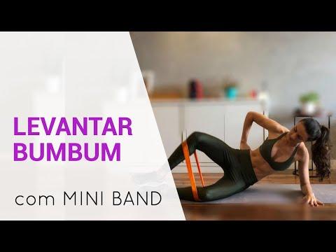Treino Com Faixa Elástica Mini Band para O BUMBUM E CULOTE