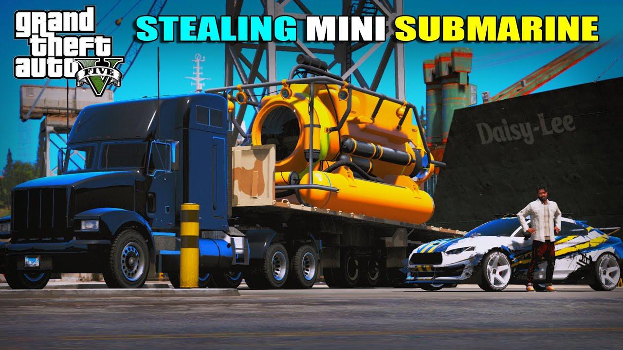 I STOLE MINI-SUB MARINE FROM SHIPWARD | GTA 5 | AR7 YT