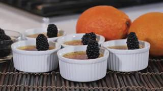 How to make Orange Scented Creme Brûlee | Chef Chris Valdes
