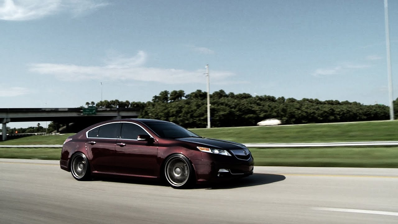 "acura tl on 20"" vossen vvs cv2 concave wheels rims youtube"
