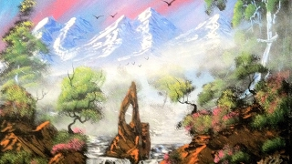 spray painting a mountain dream land