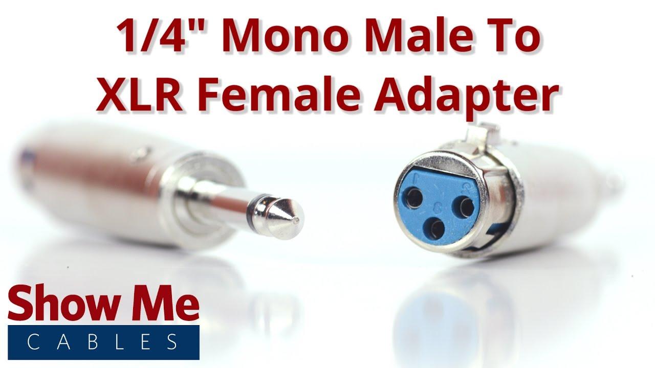 1/4 Inch Mono Male To XLR Adapter #850 Xlr Connector Wiring Diagram Mono on