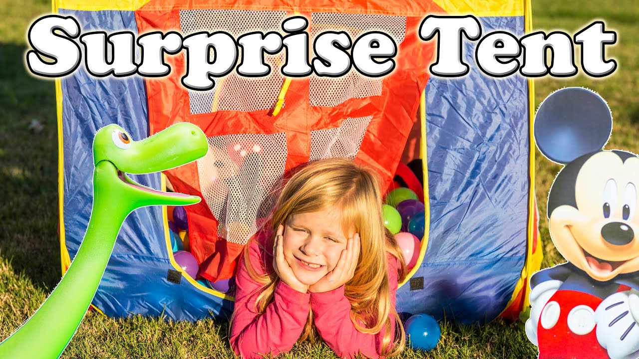 MICKEY MOUSE CLUBHOUSE Disney Surprise Tent Good Dinosaur Mickey Mouse Surprise Eggs Video  sc 1 st  YouTube & MICKEY MOUSE CLUBHOUSE Disney Surprise Tent Good Dinosaur Mickey ...