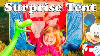 MICKEY MOUSE CLUBHOUSE Disney Surprise Tent Good Dinosaur Mickey Mouse Surprise Eggs Video