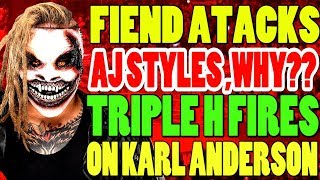 Shocking WWE Title Change! The Fiend Attacks AJ Styles! Triple H Fires On WWE Star! Wrestling News!