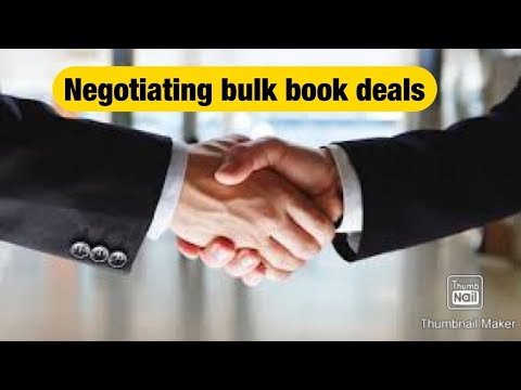 Negotiation Bulk Deals And Getting The Right Price.