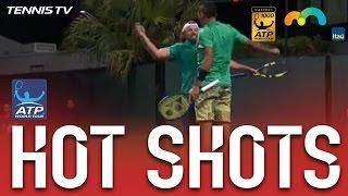 Hot Shot: Kyrgios And Reid Chest Bump At Miami 2017