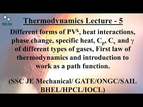 Thermodynamics Lecture 5: Work, path function, first law and energy conservation.