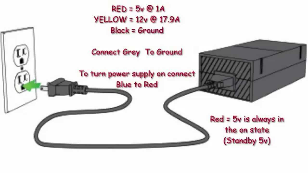 Xbox One ( How to Hotwire/Turn On power supply) Xbox Power Supply Wiring Diagram on