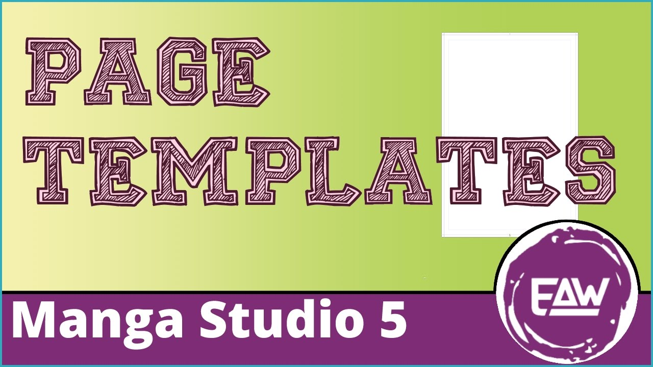 Creating a New Page Template in Manga Studio 5 - YouTube