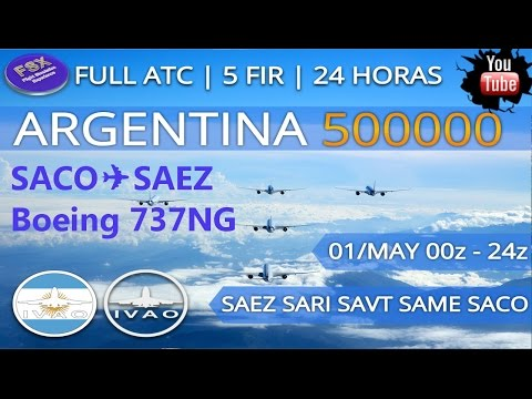 [FSX] [IVAO] EVENTO NA ARGENTINA | BOEING 737-800 | Cordoba ✈ Buenos Aires