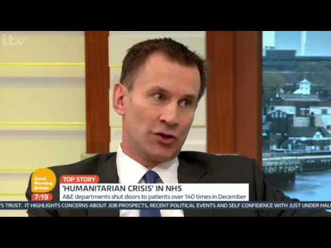 Is there a 'humanitarian crisis' in the NHS, Jeremy Hunt?