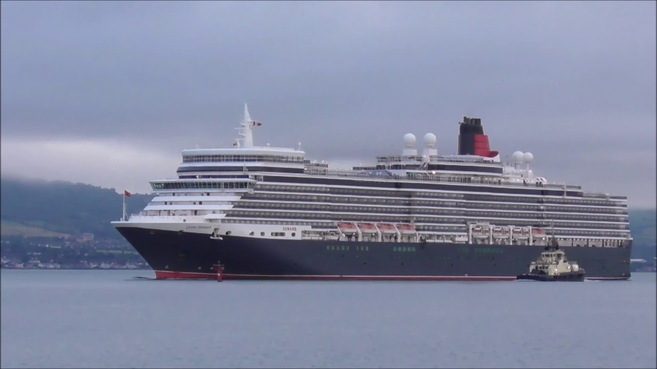 Queen Elizabeth Cruise Ship Sails Up Belfast