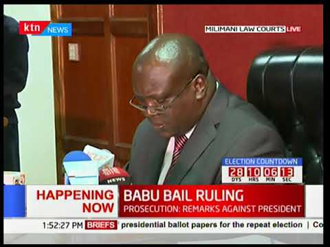 Bail or not! Babu Owino bail ruling