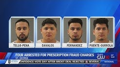 4 arrested on prescription fraud charges