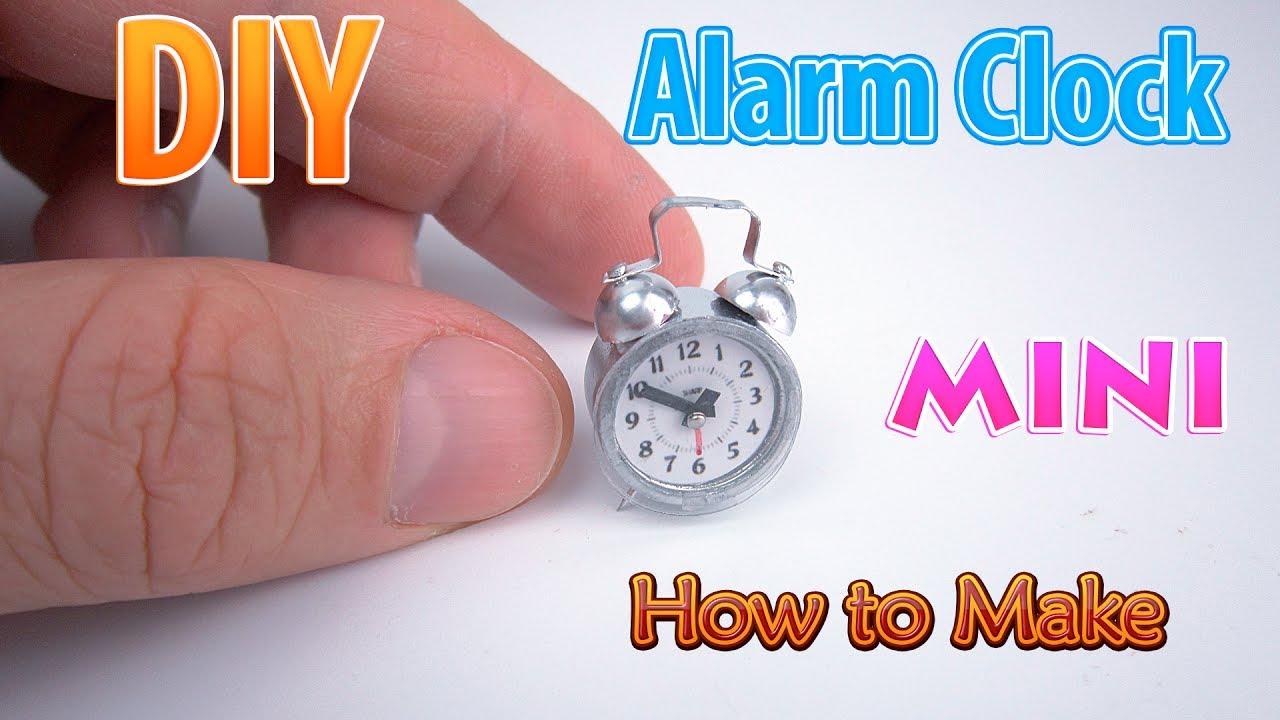 diy realistic miniature alarm clock dollhouse no polymer clay youtube. Black Bedroom Furniture Sets. Home Design Ideas