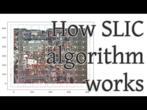 How SLIC (Simple Linear Iterative Clustering) algorithm