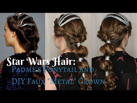 """Star Wars Inspired: Padme's Ponytail & DIY """"Faux"""" Metal Crown"""
