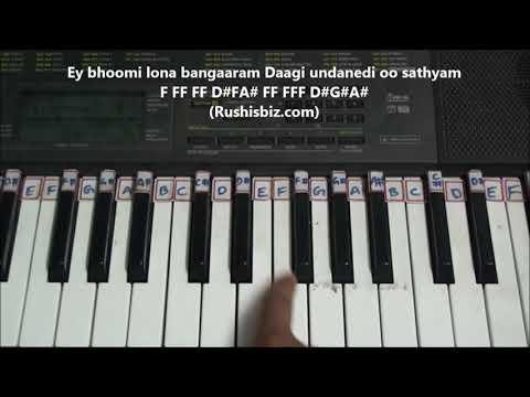 Ninnu Chudagane Chitti Gunde - Piano Tutorials (Atharintiki Daaredi)