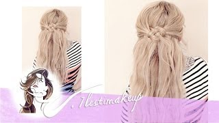 Semi-recogido con nudos #Braids with Knots