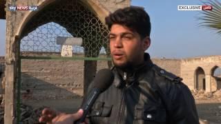 مشاهد الدمار بضريح النبي يونس في الموصل