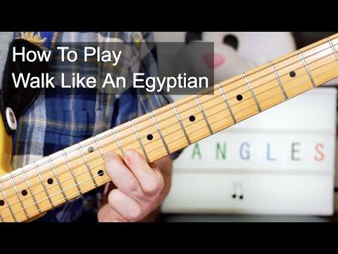 'Walk Like An Egyptian' The Bangles Guitar & Bass Lesson
