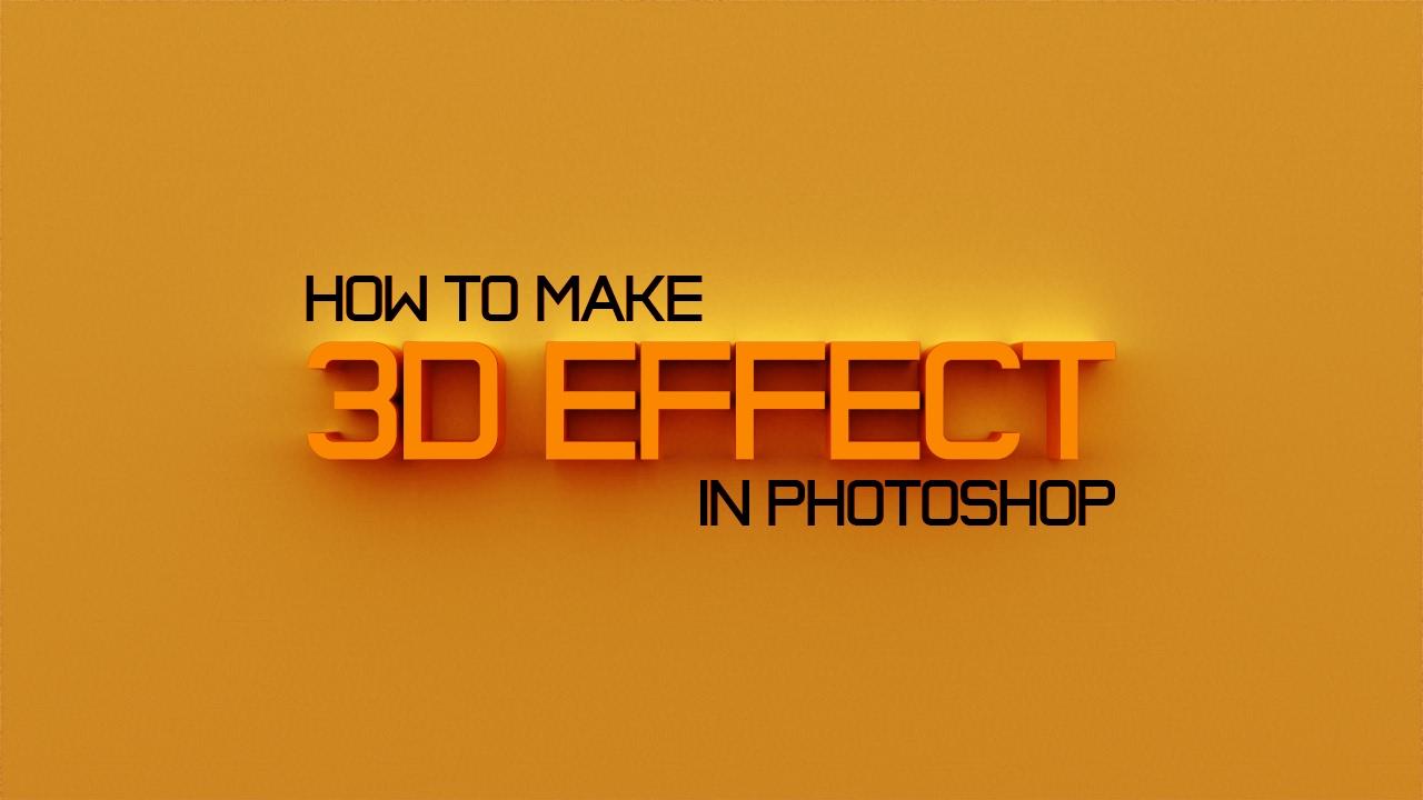 как сделать в фотошопе фото 3д